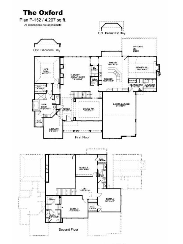 Oxford for Oxford floor plan